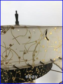 Vintage Nubian Blackamoor Continental Art Co. Chalkware Table Lamps Shades