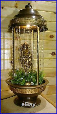 Good Vintage Nude Goddess Rare In Rock Motion Oil Rain Lamp Creators Inc. Table  Light