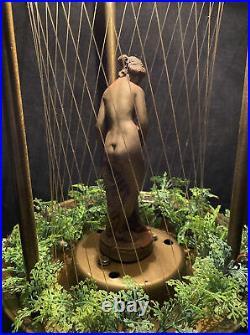 Vintage Oil Rain Lamp Goddess Woman Lady Hanging Or Table Light Works Lamp 12 C