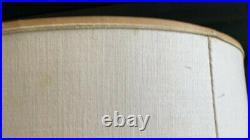 Vintage Original Pair Mid Century Modern Laurel Table Lamp Brass Wood