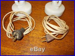 Vintage Pair Aladdin Alacite Boudoir Electric Lamp (Z)