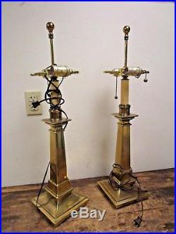 Vintage Pair Brass Table Lamps STIFFEL
