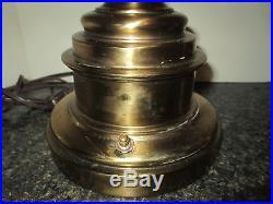 Vintage Pair STIFFEL Brass Trophy Urn Lamps Hollywood Regency Traditional