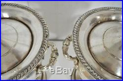 Vintage Pair Silver Silverplate Trophy Loving Cup Urn Form Converted Table Lamps