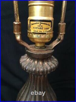Vintage Phoenix Hollywood Regency White Opal Iridescent Table Lamp