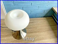 Vintage Prisma Style Table Lamp Mid Century Design Bedside Light Mushroom