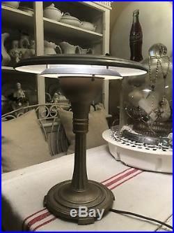 Vintage RARE UFO Table Lamp Mid Century Modern Flying Saucer 1950s Atomic Age