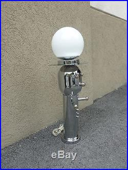 Vintage Rare Form Seldom, Seen 70's Chrome Torino Style Robot Lamp
