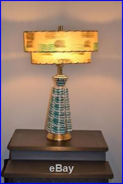 Vintage Retro Lamp Mid Century Modern Atomic Jetsons Double Shade