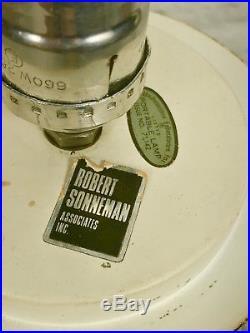 Vintage Robert Sonneman Chrome Lollipop Globe Table Lamp Mid Century Modern
