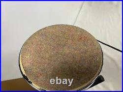 Vintage Robert Sonneman Style Atomic Chrome Cantilever Eyeball Orb Table Lamp