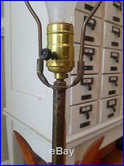 Vintage Sculptural Danish Teak Table Lamp Retro Lighting Mid Century Modern MCM