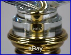 Vintage Stiffel & Baccarat French Crystal Brass Lamp #7727 Hollywood Regency