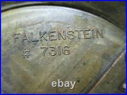 Vintage Table Lamp Amber Glass Falkenstein Hollywood Regency Optic Ribbed