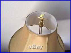 Vintage Table Lamp Shade Brown Unique Rare Design Carvings