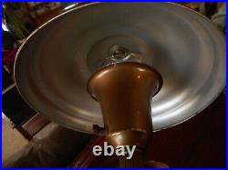 Vintage Tanker Mid Century Metal Saucer Mushroom Table Lamp 1940's 1950's Works
