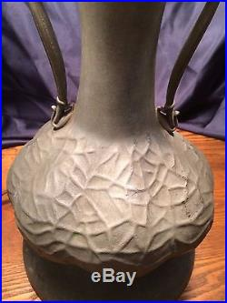 Vintage Tiffany Style Turtleback Ornate Table Lamp 23