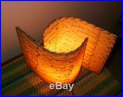 Vintage Tri Pod Mid Century Fiberglass Table Lamp
