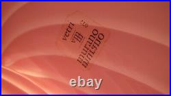 Vintage Vetri Murano Swirled PINK Glass Mushroom Table Lamp with Label Perfect