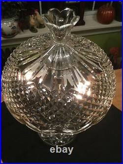 Vintage Waterford Crystal Ireland 19.5 Achill All Crystal Table Lamp