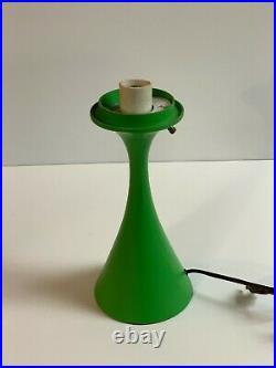 Vintage green Laurel Mushroom lamp Bill Curry midcentury modern icon