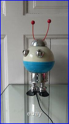 Vintage light space ufo Robot lamp Stilfer Milano 70