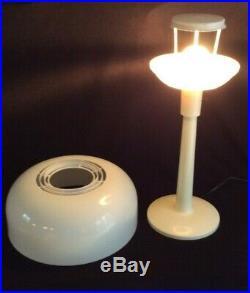 Vintage mid-century Gerald Thurston Lightolier Mushroom Acrylic Table Lamp