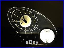 Vintage mid century modern Atomic Eames Clock Lamp