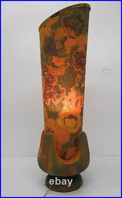 Vtg 1960s MCM Pieri Tullio Table Floor Lamp Light Fixture Floral Psychedelic 36