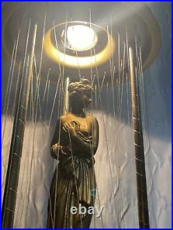 Vtg Creators Inc. 30 Nude Goddess Mineral Oil Rain Table Top Lamp