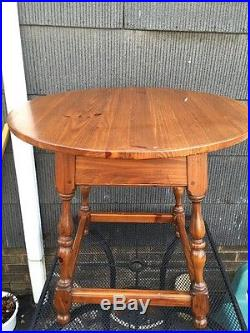 Vtg Ethan Allen Round Lamp End Table 19 8306 Made In USA