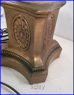 Vtg Greek Woman Lady Cast Metal Brass Candelabra 3way Table Lamp Art Deco Style