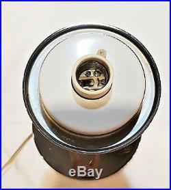 Vtg MCM 15 Laurel Type Smoke Mushroom Chrome Table Lamp Bill Curry for Stemlite