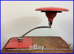 Vtg Mid Century Modern Flying Saucer UFO Atomic Desk Table Light Lamp Space Age