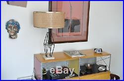 Vtg Mid Century Modern Metal Stone Sculpture Table Lamp California Weinberg Jere