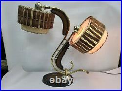 Vtg Rare Kane Brothers Majestic Atomic Space Age Retro Art Deco Z Boomerang Lamp